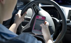 Distracted Phone Driving Accident, image by Knutson + Casey Minneapolis Accident Lawyers