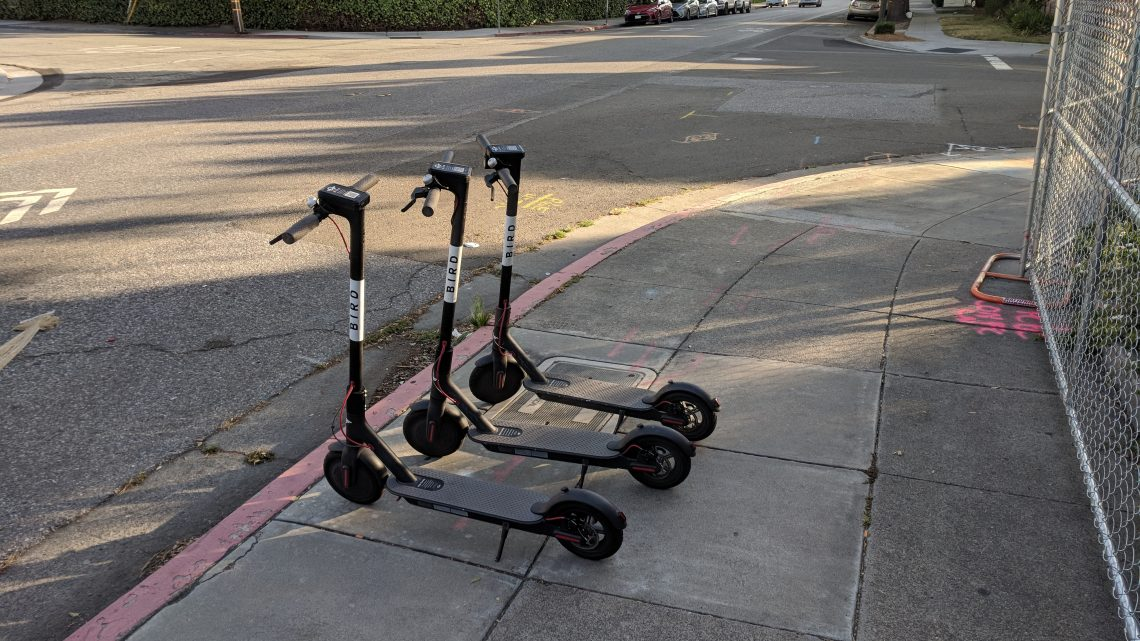 Dockless Bird Electric Scooters